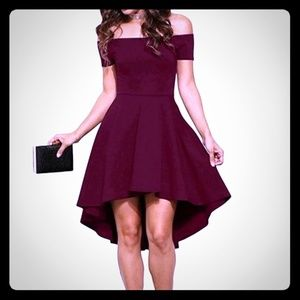NEW High Low off shoulder skater dress